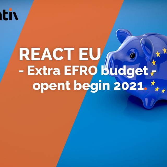 REACT EU - Extra EFRO budget - opent begin 2021
